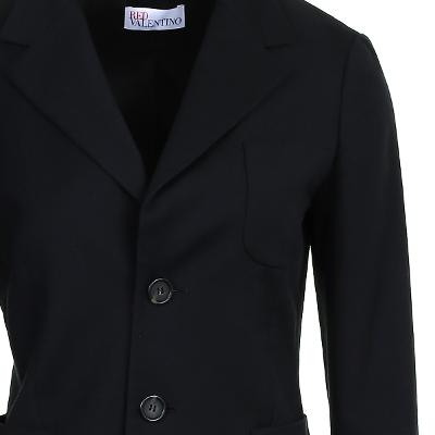 simple two button jacket black